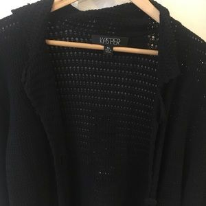 Black knit sweater - super cozy